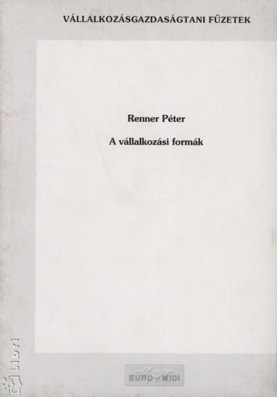 Renner Péter - A vállalkozási formák