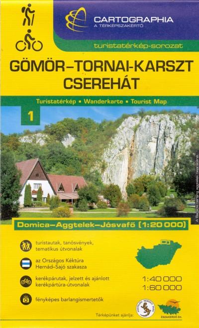 - Gömör-Tornai-karszt, Cserehát turistatérkép - 1:40000