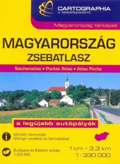 Horváth János  (Szerk.) - Szalamonidesz Sándor  (Szerk.) - MAGYARORSZÁG ZSEBATLASZ 1: 330 000