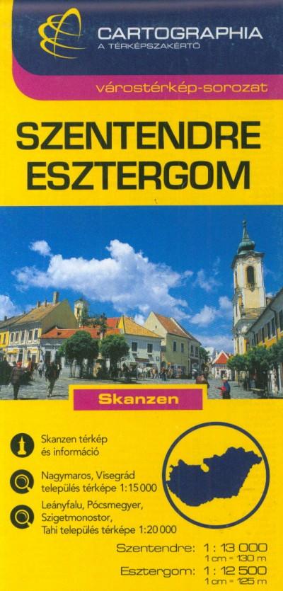 - Szentendre, Esztergom várostérkép 1:13 000