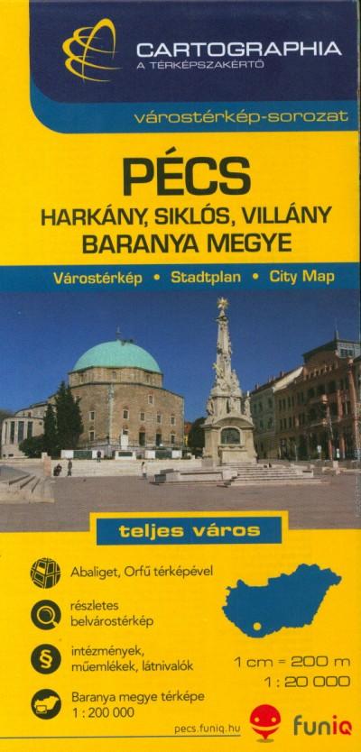 - Pécs várostérkép - Baranya megye - 1:20 000