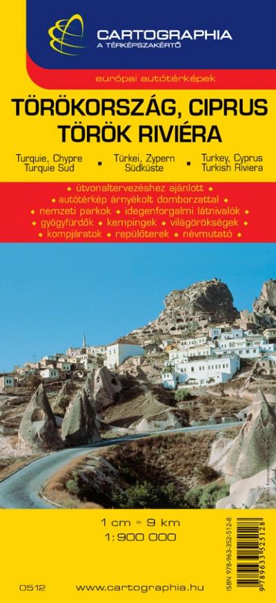 - Törökország, Ciprus - Török riviéra 1:900 000