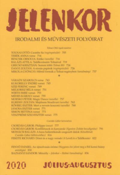 - Jelenkor - Irodalmi és művészeti folyóirat - 2020. július-augusztus