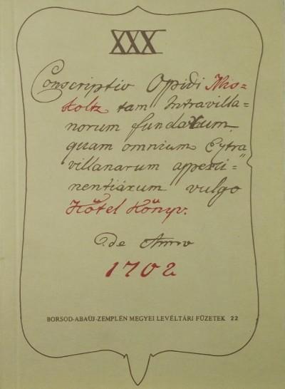 - Borsod-Abaúj-Zemplén megyei levéltári füzetek 22.